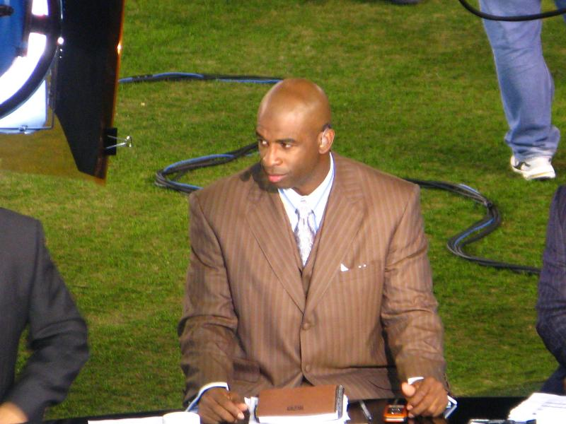 Sanders as an NFL Network analyst in 2008.