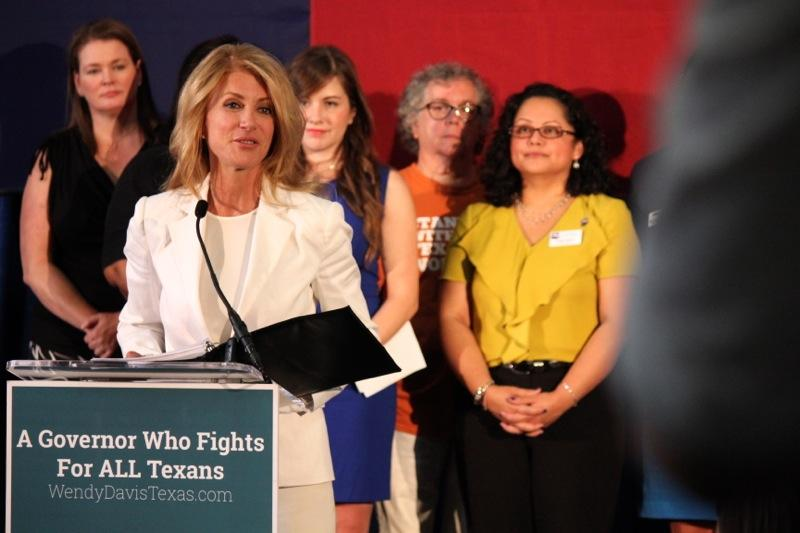 State Sen. Wendy Davis, D-Fort Worth, talks about education in Austin on Aug. 27, 2014.