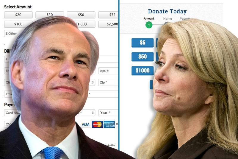 Attorney General Greg Abbott says Wendy Davis' book tour is illegal because, he says, her publisher will use private funds while she uses political funds.