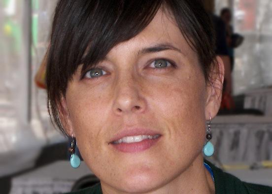 "Carrie Fountain at the 2010 Texas Book Festival. ""Writing poetry has always been, quite simply, about trying to make sense of the experience of being in the world,"" she says."
