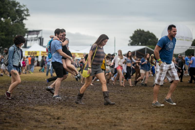 Rains soaked the Great Lawn at this year's Austin City Limits Music Festival.