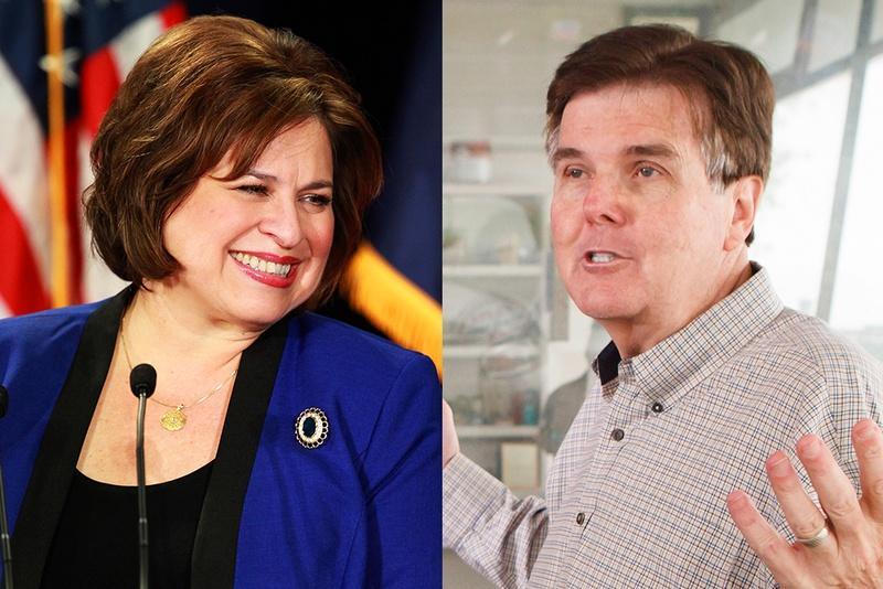 Lieutenant Governor candidates Sen. Leticia Van de Putte (D) and Sen. Dan Patrick (R)