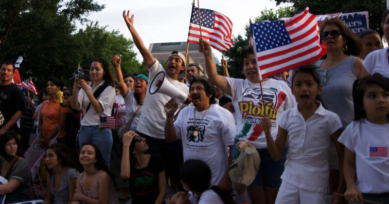 Immigration reform advocates protest in this file photo from 2009.