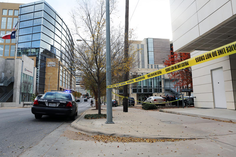 A gunman in Austin opened fire Friday morning on multiple downtown buildings — including a federal courthouse and the Mexican consulate.