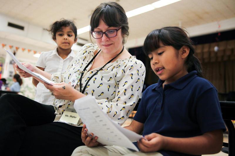 Skyler Lightfoot directs the after school program at Pecan Springs.