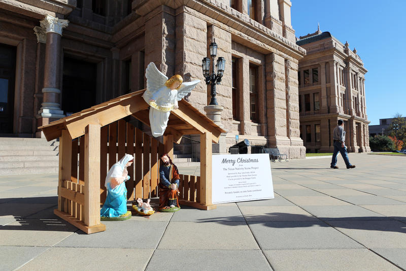 The organizers will set up the nativity scene the ground level of the capitol just below the main rotunda.