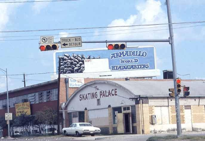 An archive photo of the 'Dillo. Threadgills North Lamar location holds most of the memorabilia from the Armadillo World Headquarters. Owner Eddie Wilson is set to auction off a portion of the memorabilia sometime next year.