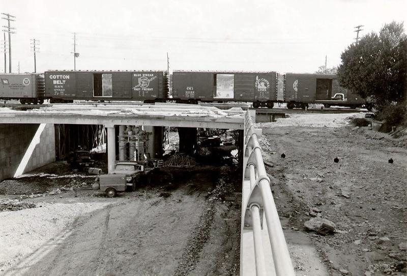 The Third Street overpass under construction in November of 1959.