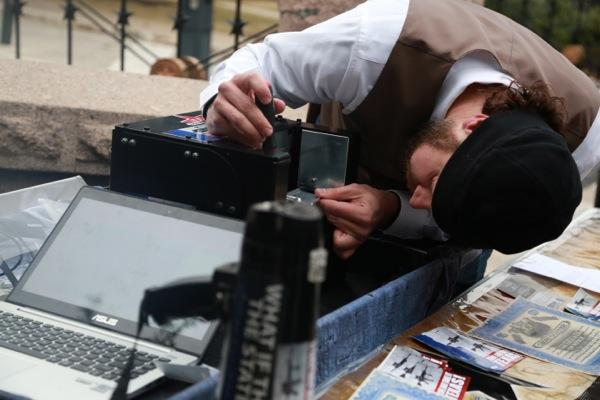 Murdoch Pizgatti, president of Come and Take It Texas, operates the Ghost Gunner machine outside the Texas State Capitol on Jan. 13, 2015.