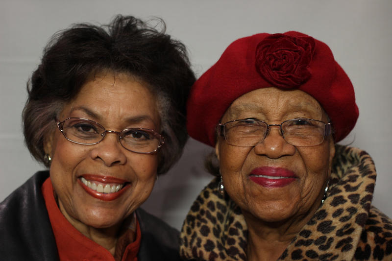 Rev. Marion Childress-Usher and Gertha Murphy at the StoryCorps mobile booth