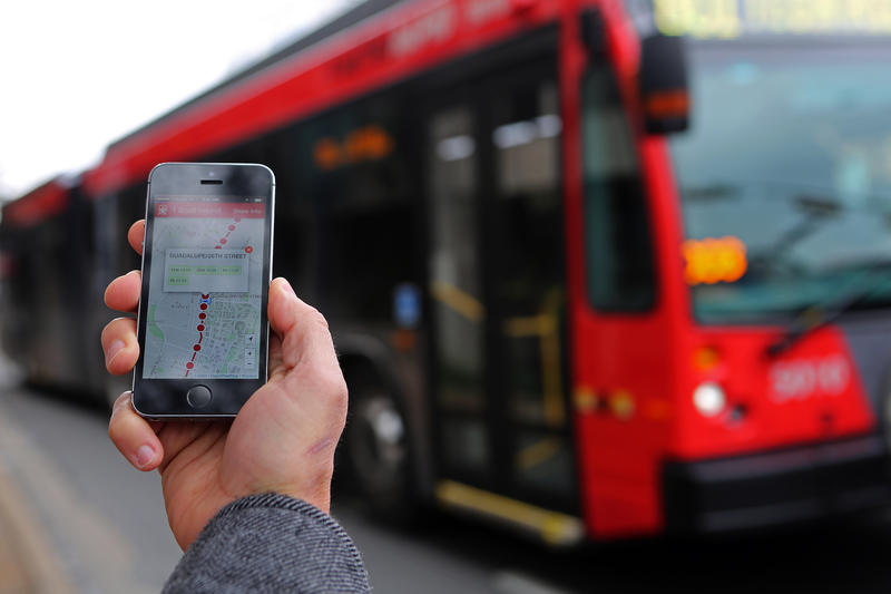 Starting today, real-time location information is available for every bus and train in Capital Metro's fleet through apps like Instabus.