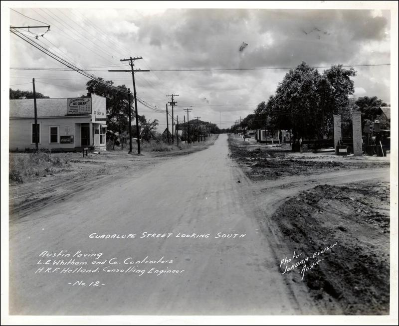 A photo looking south at 38th Street in 1933, near Jimmyville Ice Cream.