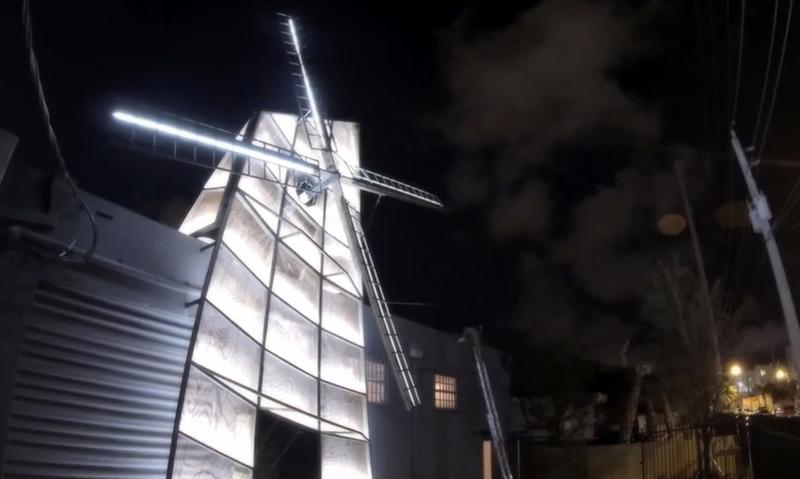 Ketel One will be building a windmill over South By similar to this one built at the Art Basel Festival in 2013.