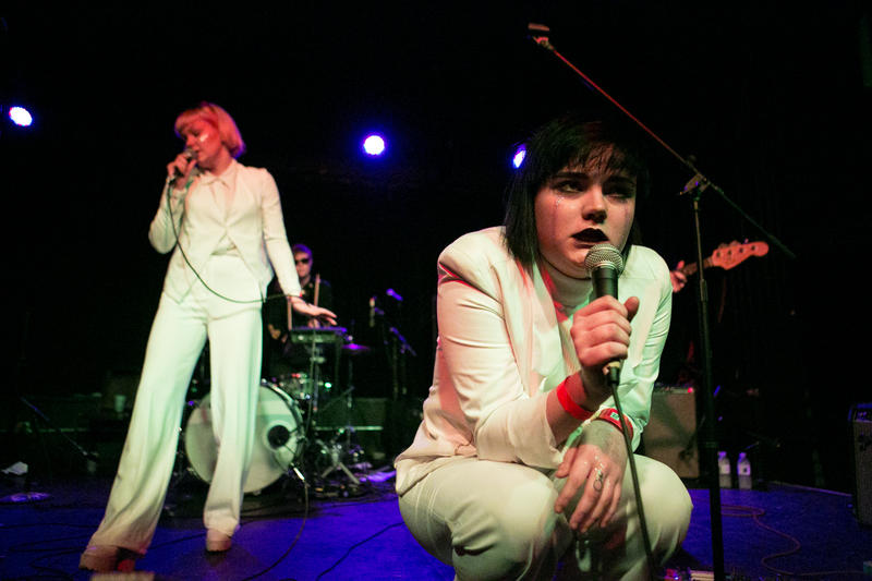 Swedish duo The Magnettes perform at SXSW.