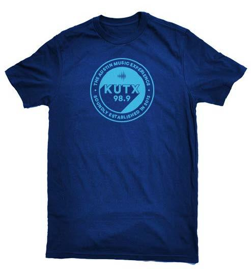 KUTX T-shirt at $7.50 per month or $90 annually