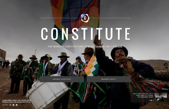 A new app allows users to compare constitutions and pull excerpts from countries around the world.