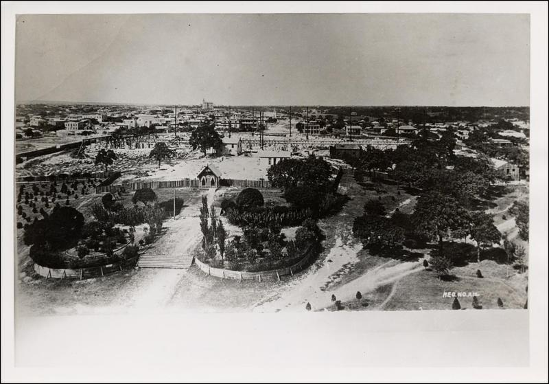 A look at the construction site of what would become the Texas State Capitol.