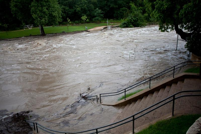 Flooded Barton Creek