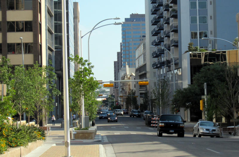 The City of Austin has already converted parts of Brazos Street from a one-way street to a two-way.