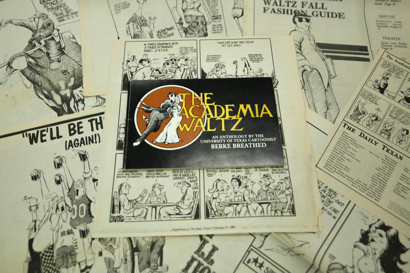 The Academia Waltz comic strip, published in the Daily Texan in the late 1970s, was the predecessor to Berkeley Breathed's Bloom County series.