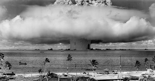 Historic image of a nuclear weapons test.