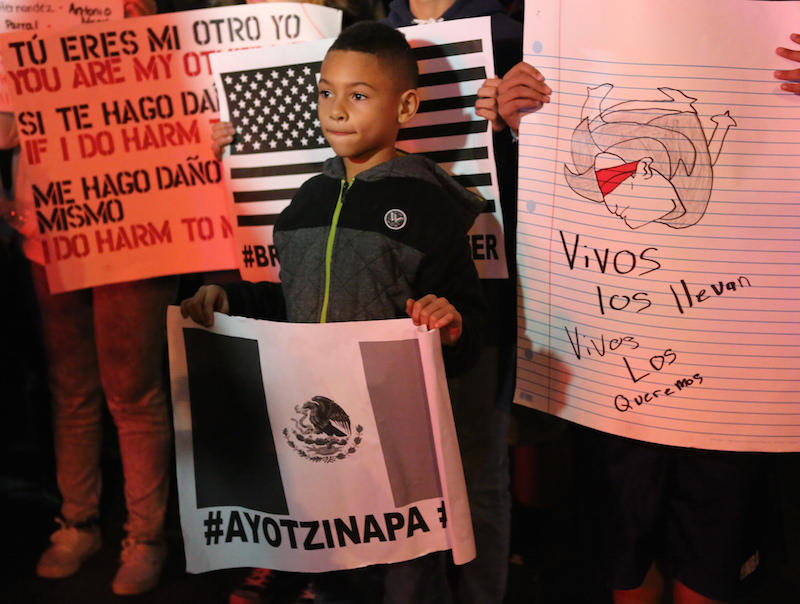 The disappearance of 43 students from Ayotzinapa has led to large protests in the United States and Mexico that call for the Mexican government to properly investigate what happened.