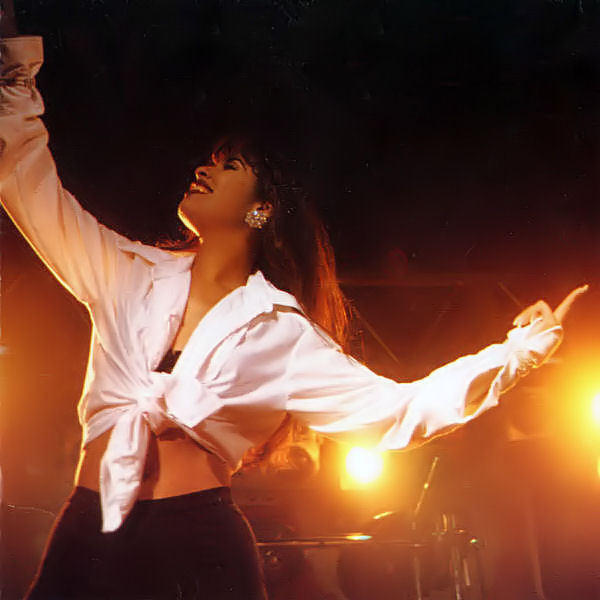 Selena in concert in 1994. This week, the Texas-born singer's family released a new song 20 years after her death.
