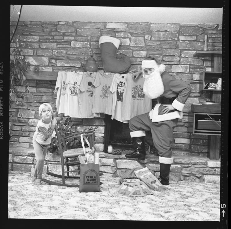 An old snapshot of John Aielli dressed as Santa Claus.