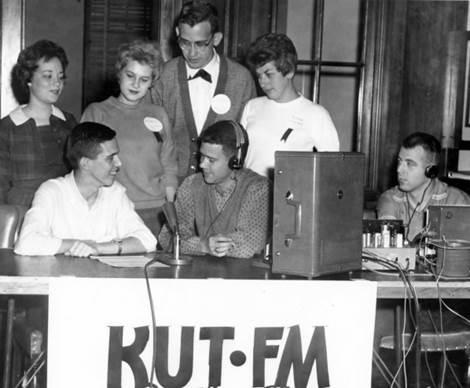 A photo from KUT's earliest days in 1958