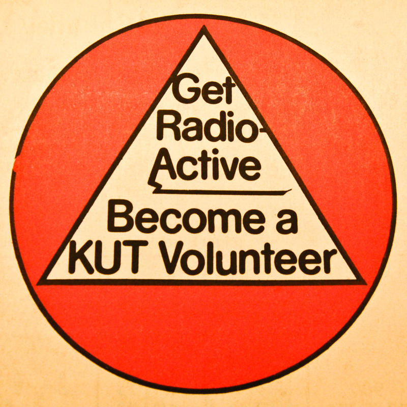 A KUT membership poster from the 1970s.