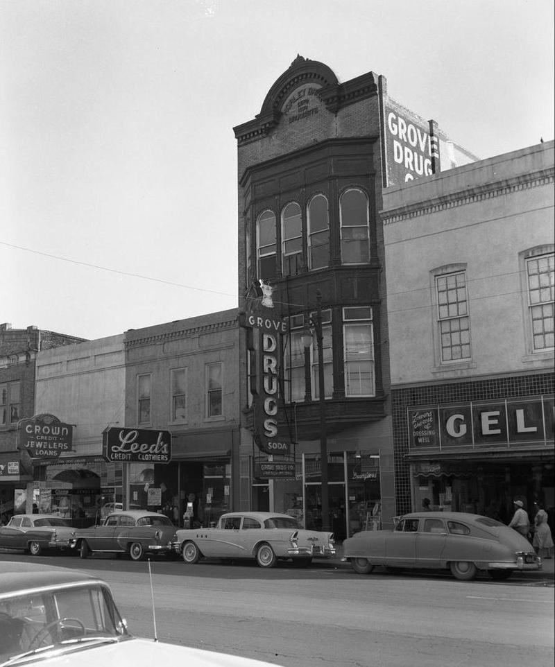 A look at the old Grove Drugs sign from April 1956.