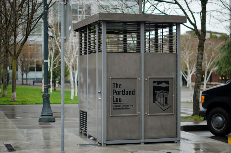 A Portland Loo at Jamison Square in Portland. The City of Austin is looking into setting up public restrooms downtown to service those in the area.