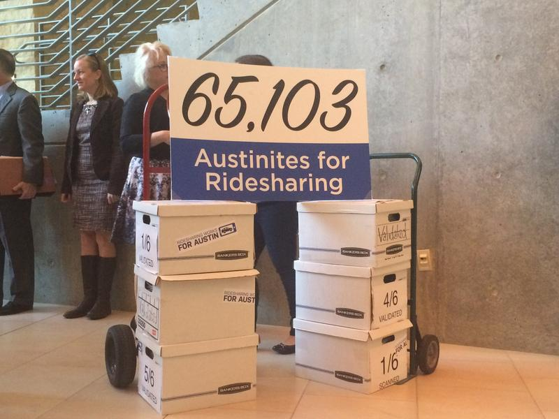 Over 65,000 Austinites signed a petition to put an initiative to change regulations for ride-hailing apps on the next ballot.