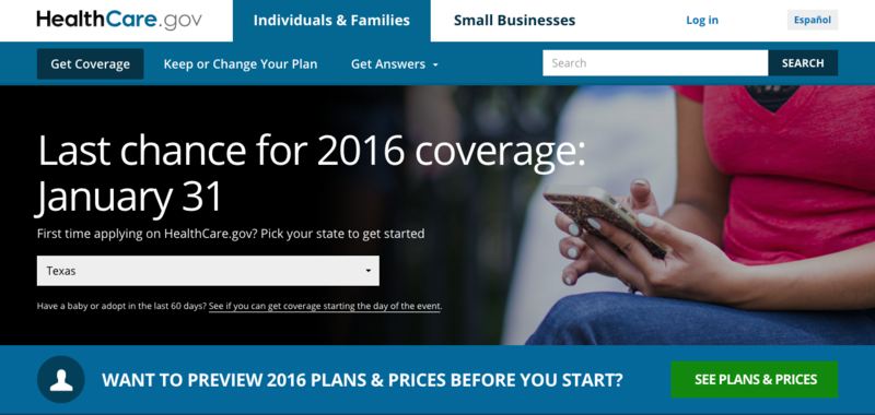 Sunday is the 2016 deadline for health insurance enrollment under the Affordable Care Act.