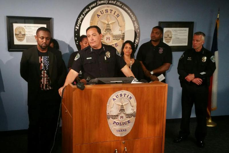 Chief Acevedo speaks to the press Thursday, Feb. 11, 2016, at APD headquarters.