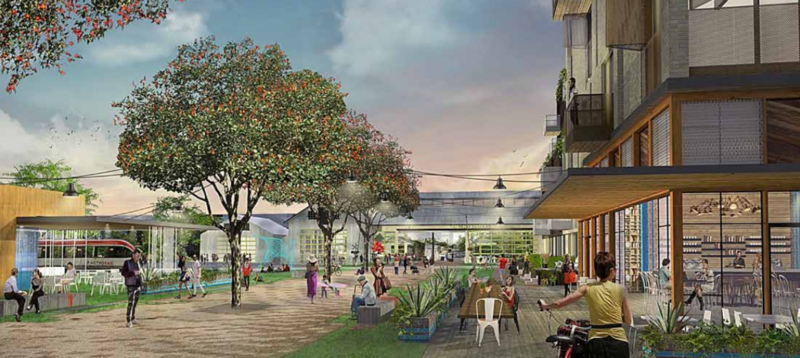 An artist's rendering of the Plaza Saltillo redevelopment project.