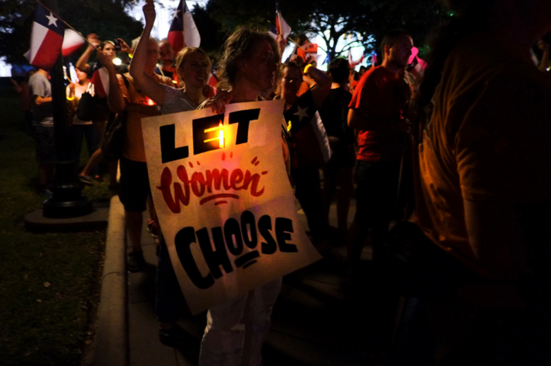 In July 2013, abortion rights supporters protested the Texas House passing HB2. The controversial law is at the center of oral arguments presented at the Supreme Court today.