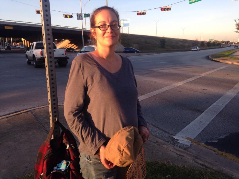 "This woman was the subject of ""Texas Standard"" series on being pregnant and homeless."