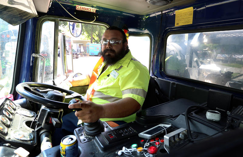 Jacob Cervantes collects recyclables for the city. He says he makes as many as 1,000 stops in a single day, but where do all those recyclables end up?