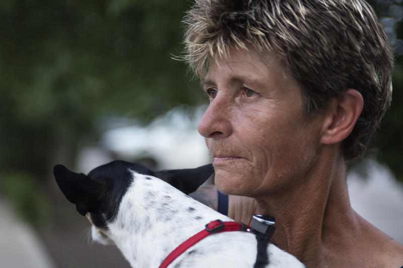 Trenda McMillan lived out of her station wagon in the parking lot of an Austin Walmart with her two dogs until she was forced to leave a few weeks ago.