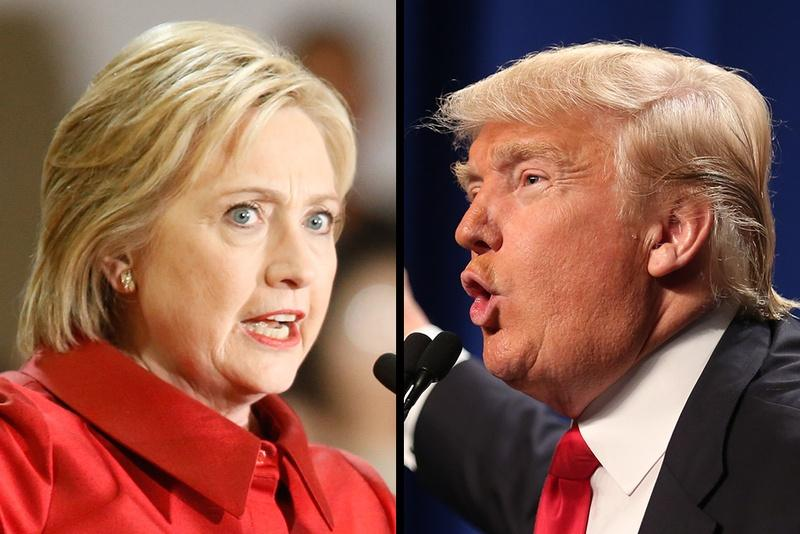 Democratic nominee Hillary Clinton and Republican nominee Donald Trump will face off in November's presidential election.