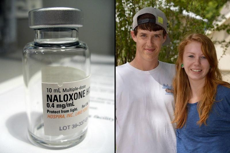 Miles McEntee died on June 2, 2015 of a heroin overdose in the apartment he shared with his sister, Taylor, right. Their mother wonders whether naloxone might have saved his life.
