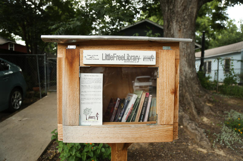Austinites say a man has been taking books out of Little Free Libraries and selling them.