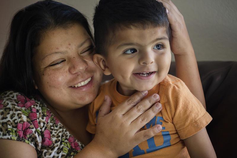 Gerardo Reyes and his mother Myra Reyes.