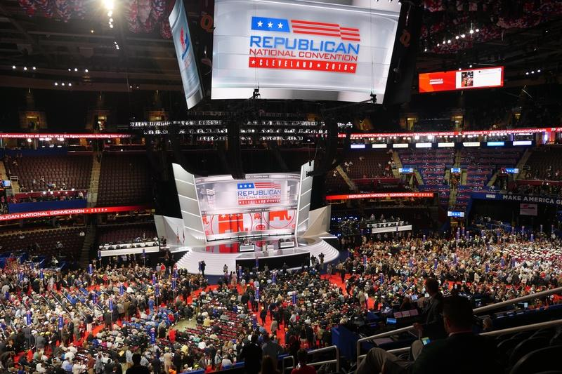 The Republican National Convention in Cleveland, Ohio on July 18, 2016.