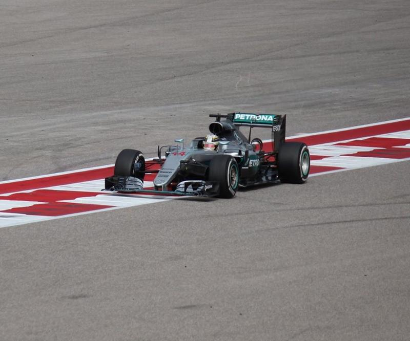 F1 driver Lewis Hamilton led the 2016 U.S. Grand Prix from pole to finish
