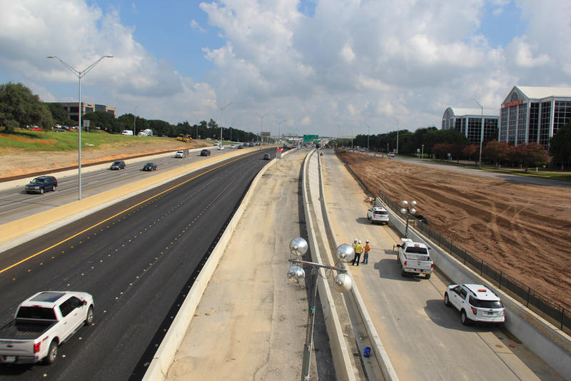 Construction on the MoPac Improvement Project near Steck Avenue on September 21, 2016