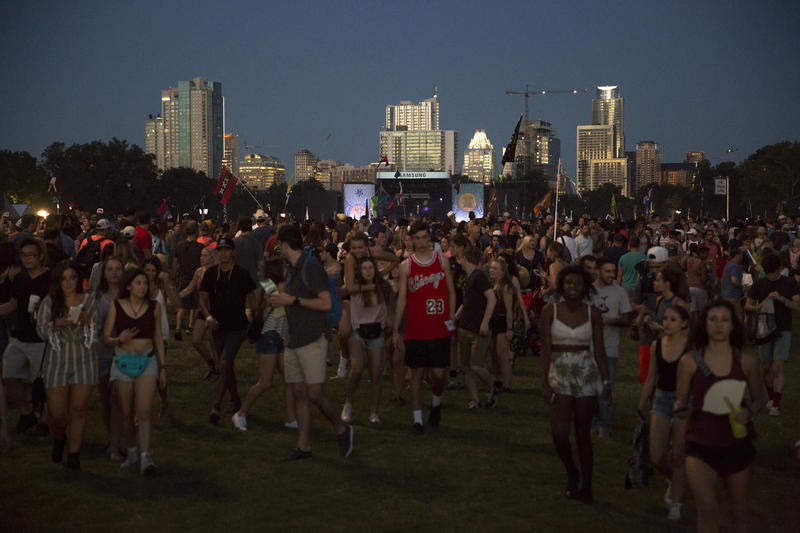 Crowds at the Austin City Limits Festival on October 2, 2016.