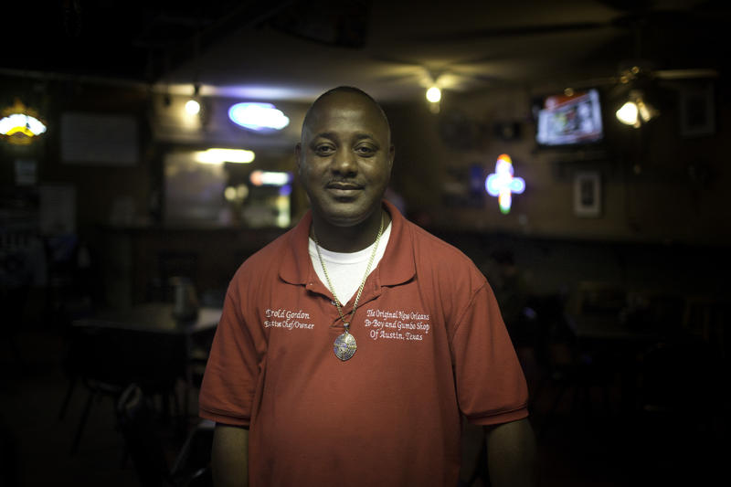 Darold Gordon, Executive Chef and Owner of Big Easy Bar & Grill is from New Orleans and has been in Austin since 2008. He opened his East Austin restaurant 3 years ago.
