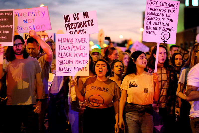Hundreds gather at Auditorium Shores for the One Resistance rally and protest organized by a coalition of organizations.